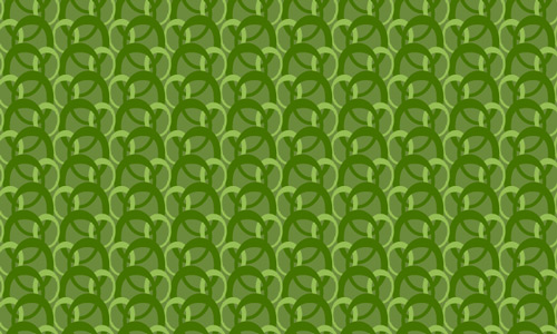 Retro circle green pattern