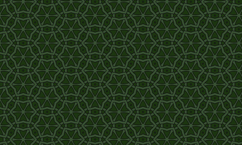 Green star patterns