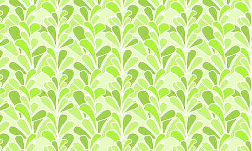 Retro leaves green pattern
