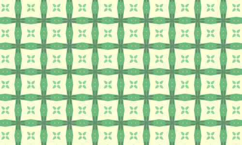 White box green pattern