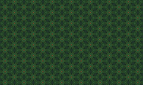 Flower green pattern