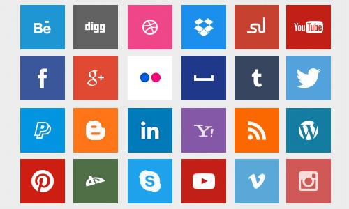 box social icons media