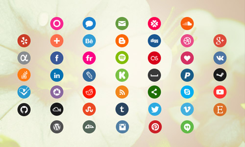 media circle icons free