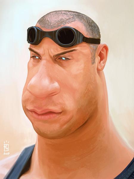 Vin Diesel Caricature