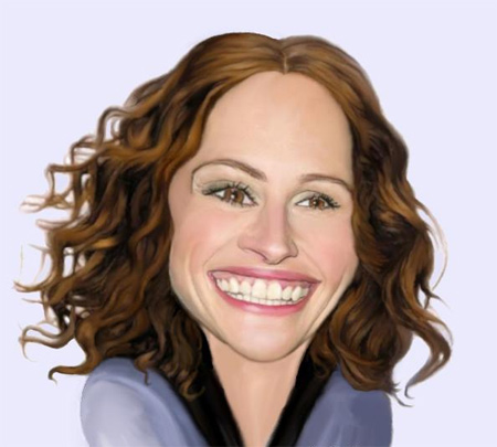Julia Roberts Caricature
