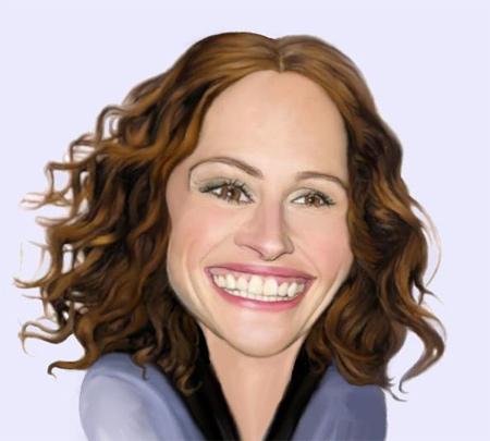 Julia Roberts Caricature
