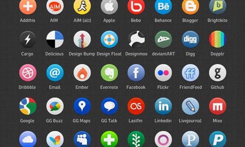 vector icons media