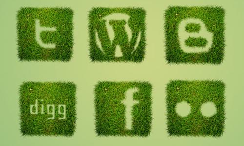 grass social icons