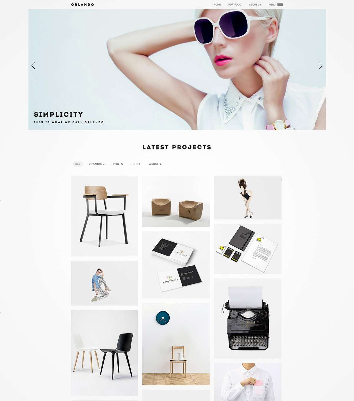 grid portfolio wordpress