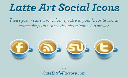 coffee art social icons