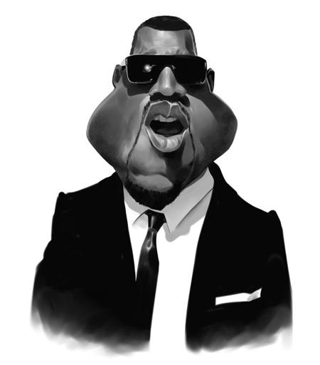 Kanye West caricature