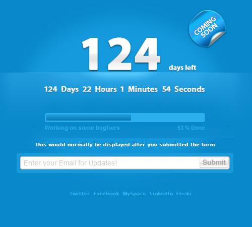 clean countdown timer