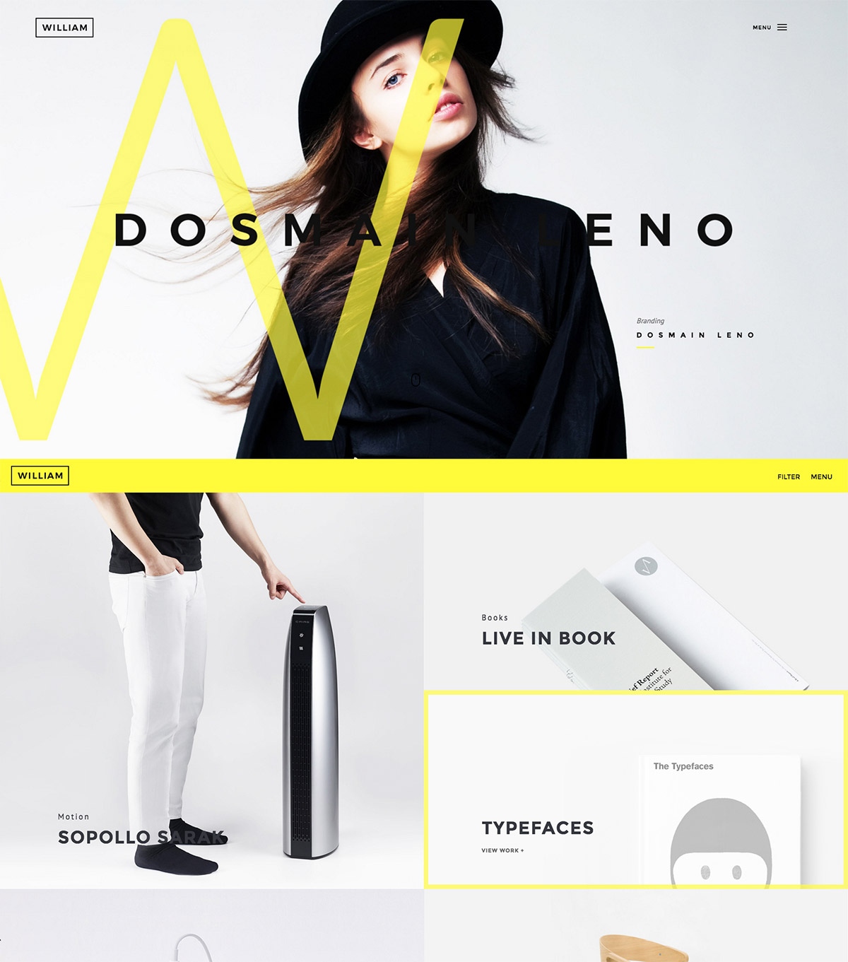 minimalist portfolio wordpress