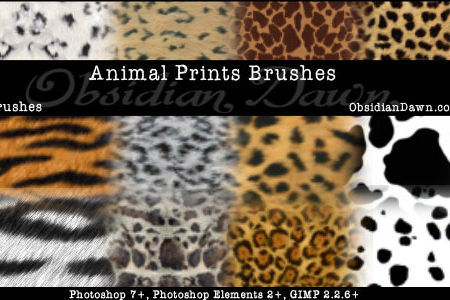 Animal Prints Photoshop & GIMP Brushes