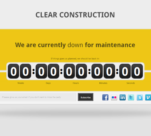 clear construction