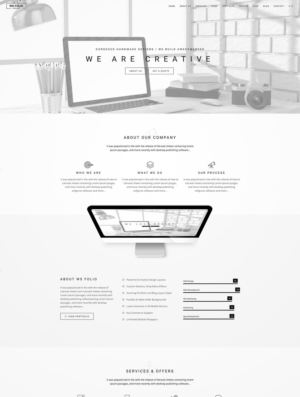 minimal style portfolio