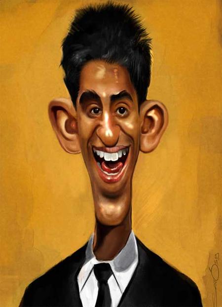 Dev Patel Caricature