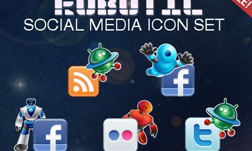robot social icon