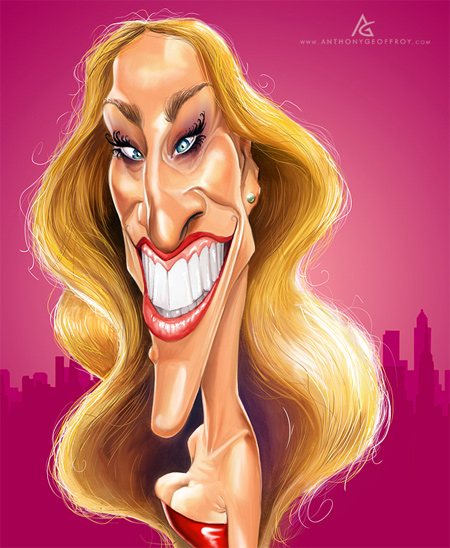 Carrie Bradshaw caricature