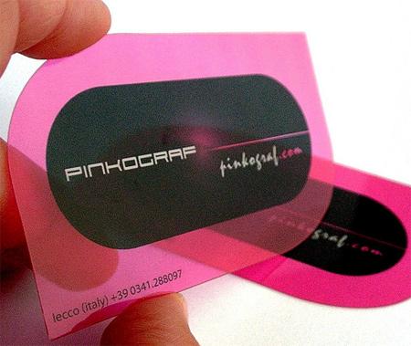Transparent Satinierte Visitenkarten aus Kunststoff