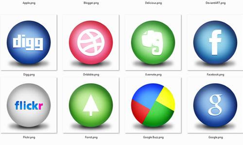 circular social icon