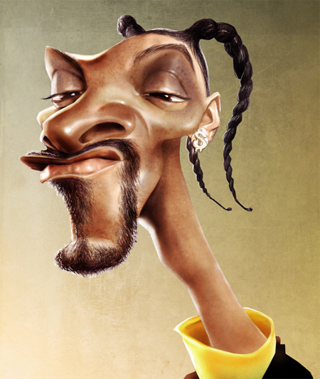 Snoop dogg caricature