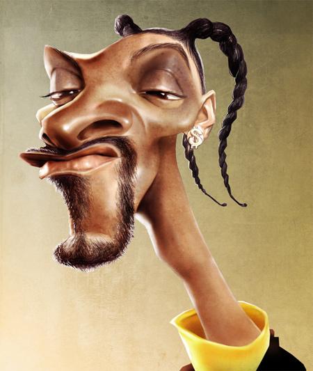 Snoop dogg caricature