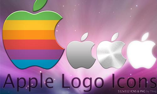 apple logo icons