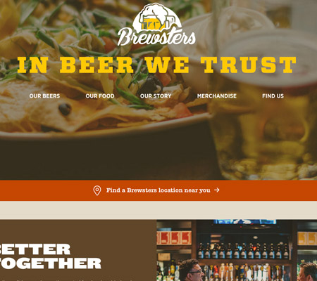 beer orange web design