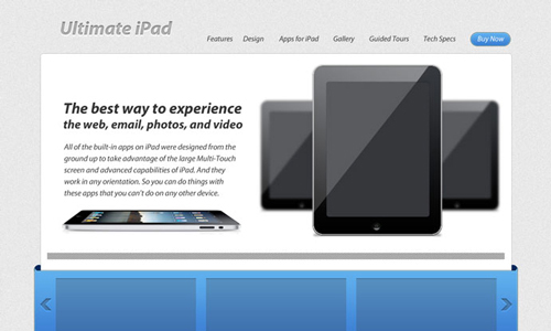 Create a layout inspired by apple.com