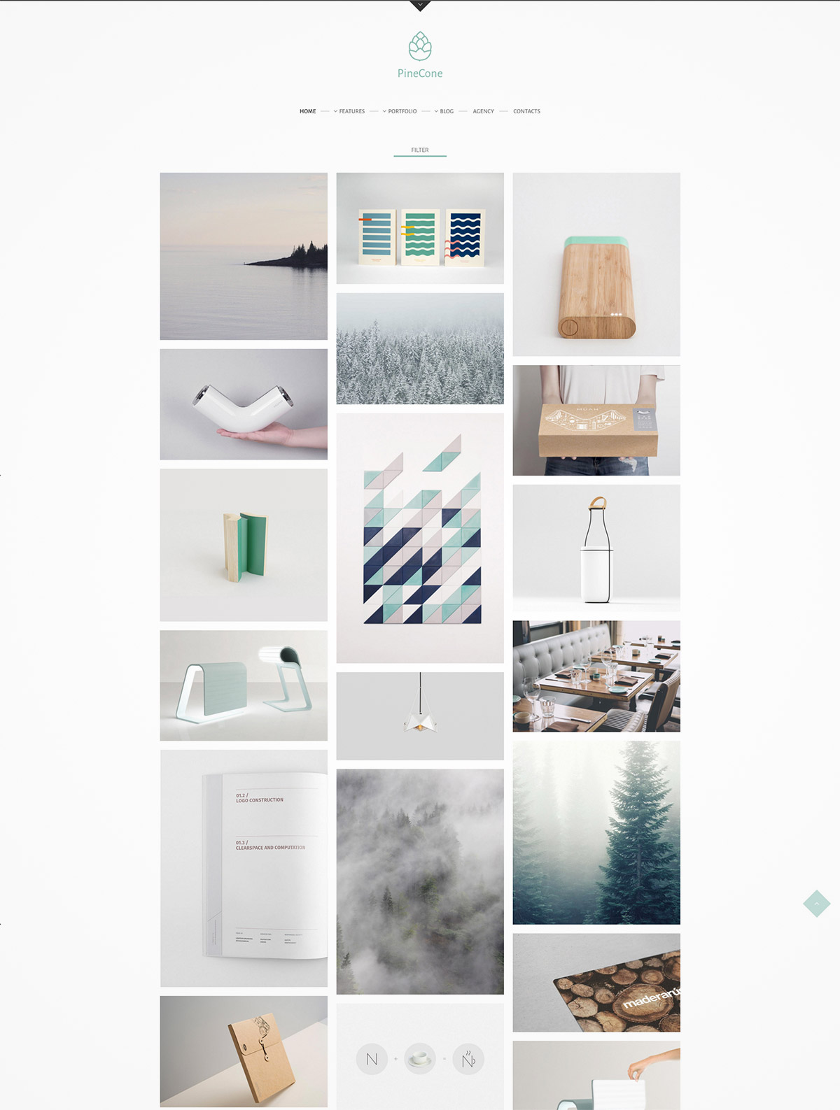 clean grid wordpress