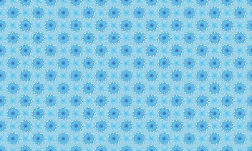 Blue Floral Bed