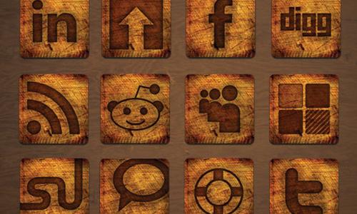 wood media icons