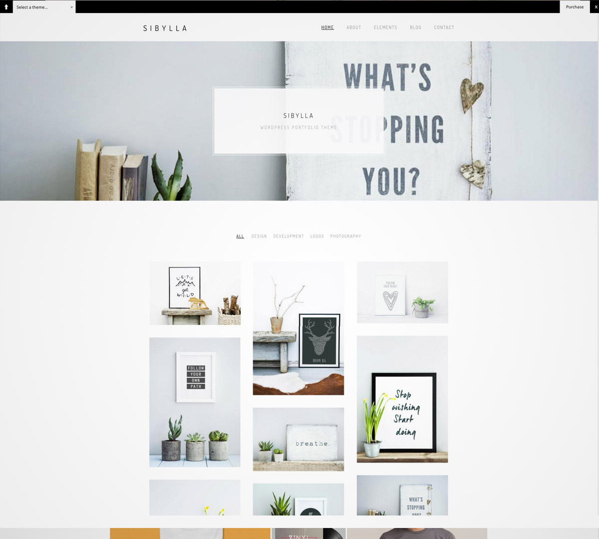 minimal portfolio wordpress