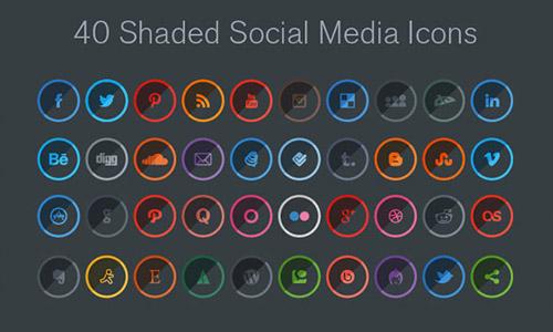shade social media free icons