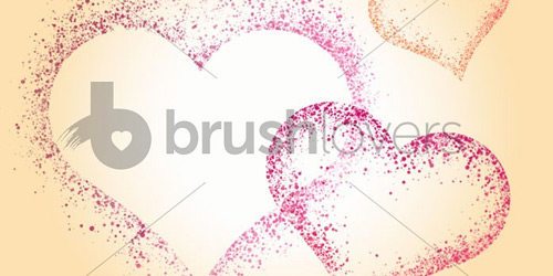 Spatter Hearts brushlovers
