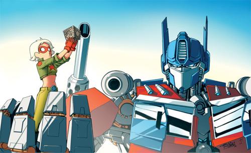 Optimus Prime and Hawt