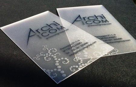 Transparent Business Card