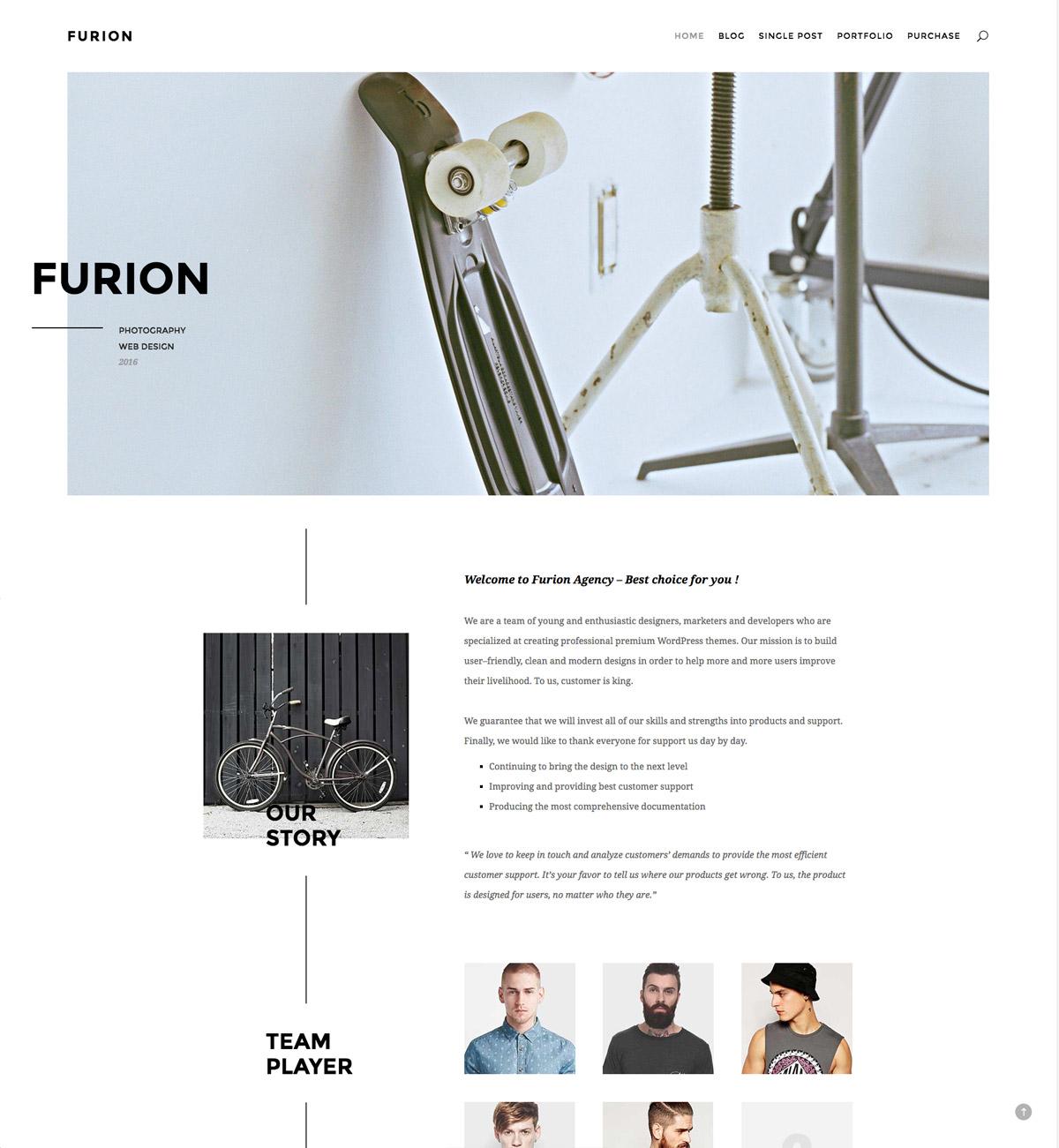 classic modern portfolio website