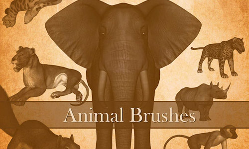 animal brushes photoshop free
