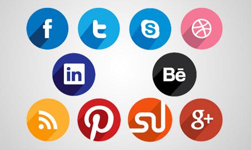 circle flat icons