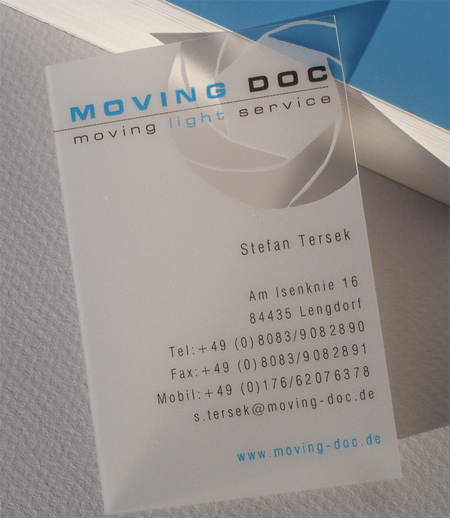 Frosted Translucent Business Card