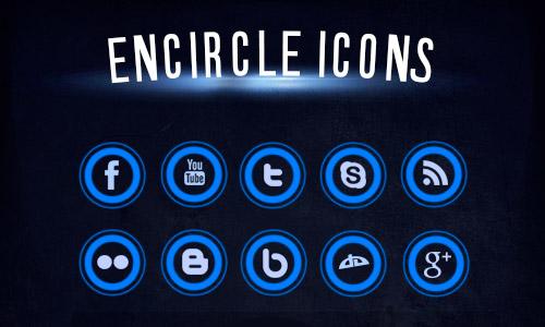 circle media icons free