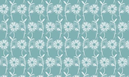 Elegant Floral Blue
