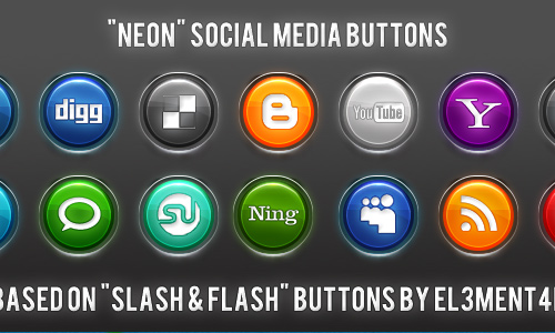 Neon Social icons