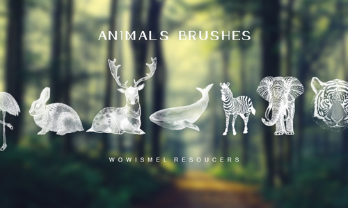 cool animal photoshop brushes