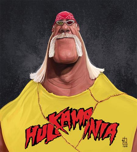 hulk hogan Caricature