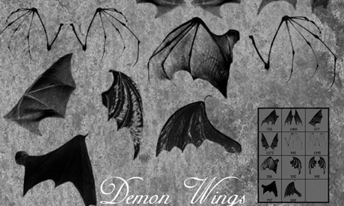 Bat Demon Wings