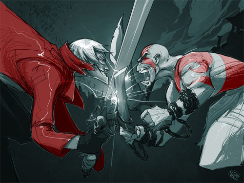 Dante vs Kratos