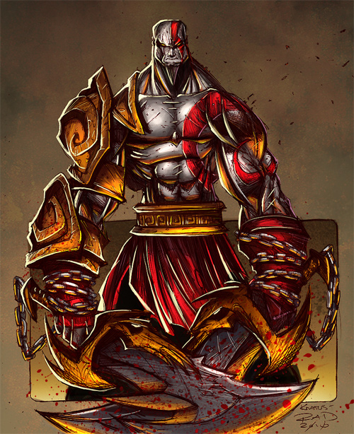 Kratos Sketch Colored